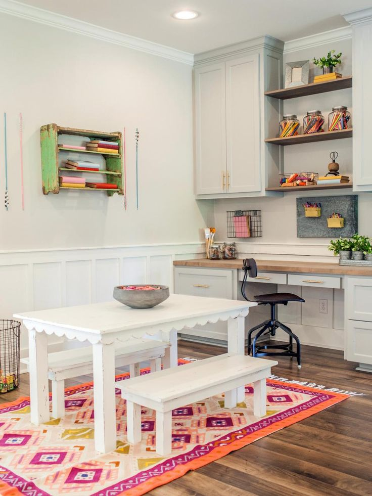 as seen on fixer upper carpenter clint harp is known for his stunning designs and amazing playroom office shared space