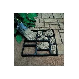 Do it yourself cobblestone pathway with concrete mold, patio, Pathmate™ Stone Molds