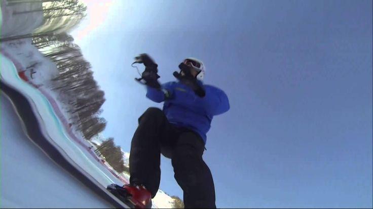 BBC's Graham Bell skis Sochi downhill with handheld camera