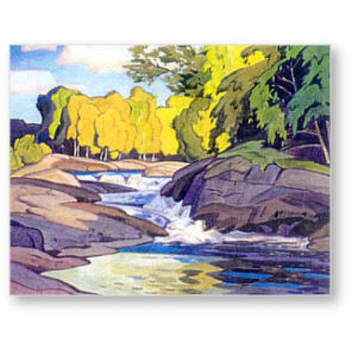 A.J. Casson - Group of Seven - Rapids On The Magnetawan   My grandmother's home town