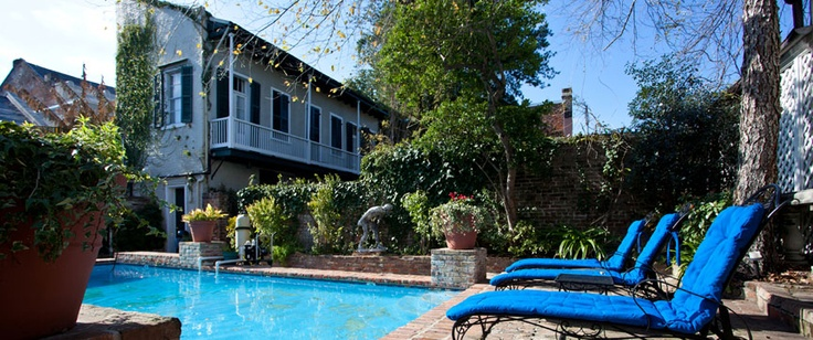 Poolside at the Audubon Cottages in New Orleans   - Explore the World with Travel Nerd Nici, one Country at a Time. http://TravelNerdNici.com