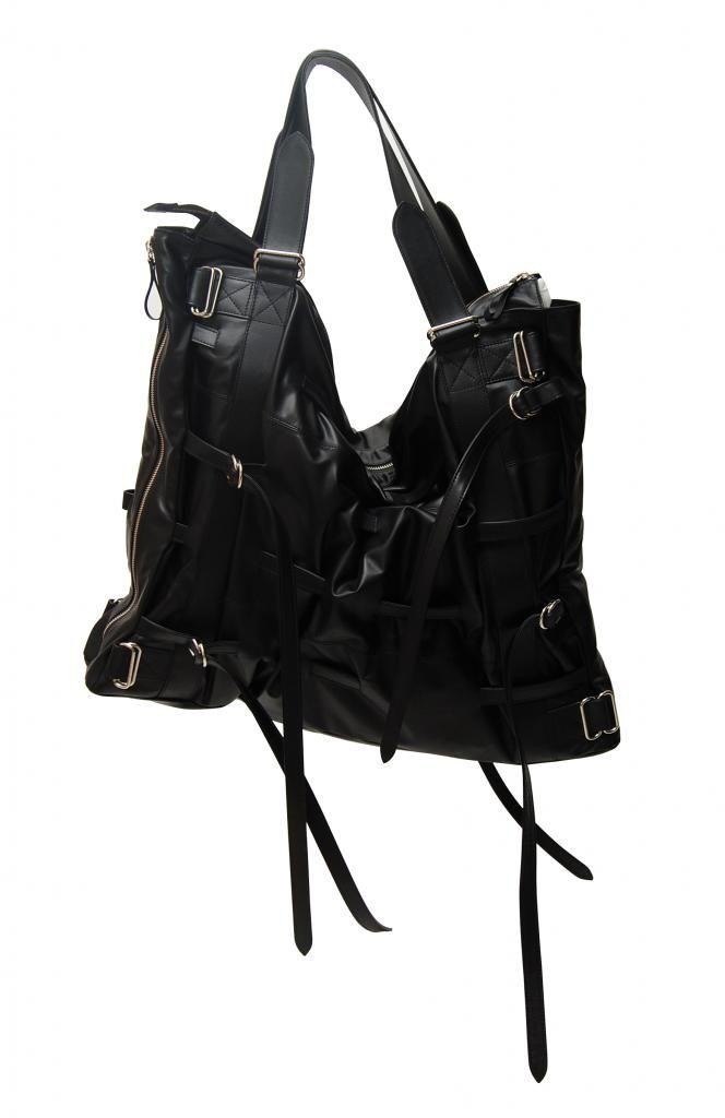 Joan Fabregas SS10 Maxi Tote Handbag made of black lambskin