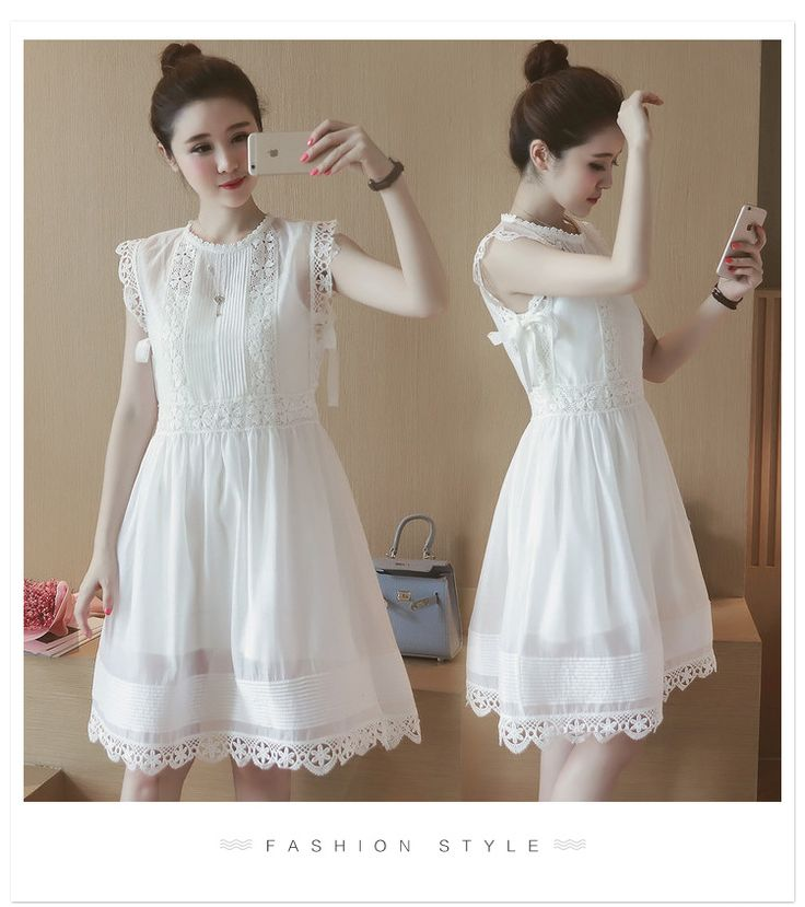 T6343-2016 summer new Women Korean two-piece dress crocheted Dress fight global homemade 0704- Taobao station