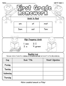 Attach this cute homework sheet to your weekly homework packet.  Each page includes important words to read that focus on the phonics skill/s for the week, weekly HFW and reading log.  *Use with Pearson Reading Street Unit R (Ready, Set, Read!) Enjoy :)Denise Gutierrez