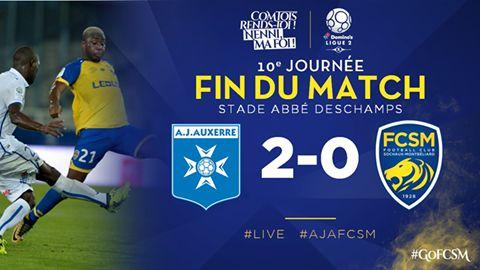 🔚 C'est terminé à Auxerre. Le FC Sochaux-Montbéliard s'incline 2-0 après avoir craqué en seconde période… #AJAFCSM