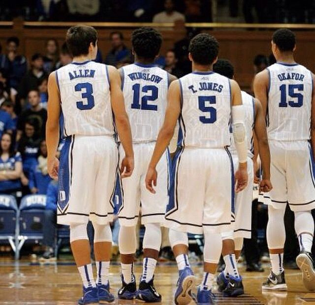 Grayson Allen, Justise Winslow, Tyus Jones, and Jahlil Okafor.