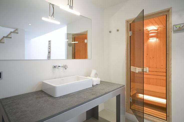 Split Level with sauna experience @ STROOM Rotterdam - hotel, brasserie, bakery, espressobar.  Your urban boutique experience. www.stroomrotterdam.nl #Bathroom #Wellness