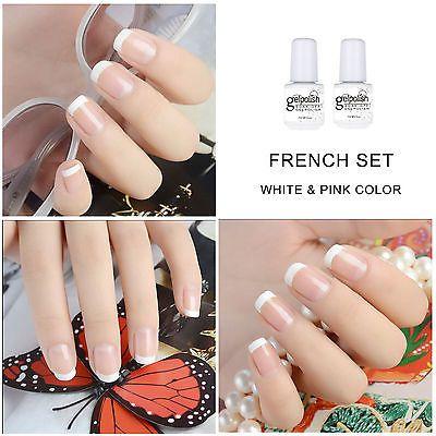 French-Manicure-Set-2pcs-UV-LED-Soak-Off-Gel-Nail-Polish-free-French-Tips-7ml