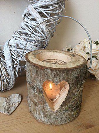 תוצאת תמונה עבור A wooden log lantern