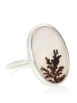 Melissa Joy Manning Sterling Silver Dendritic Agate Ring