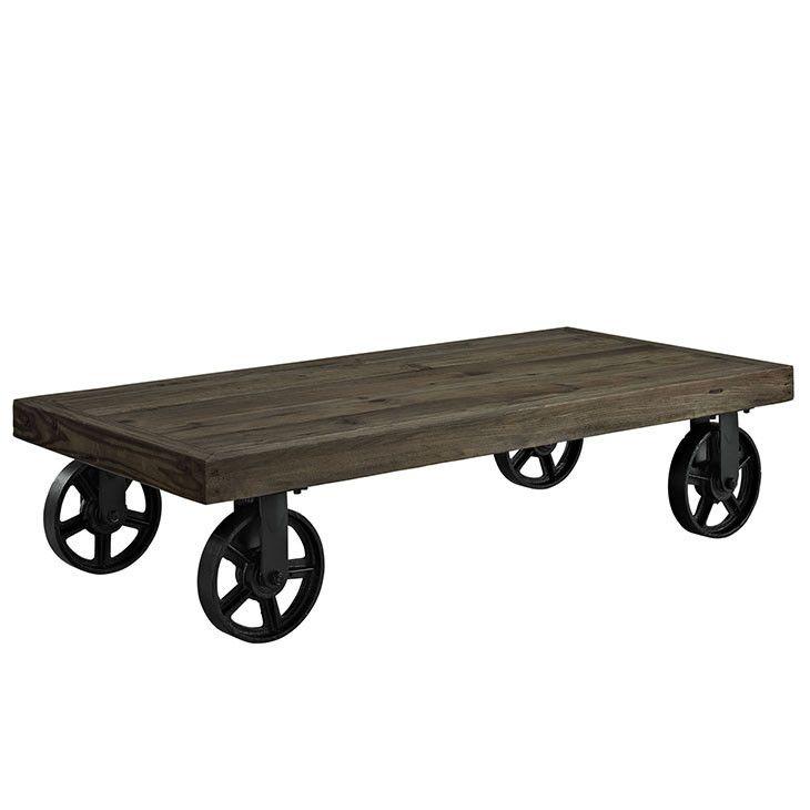 Modway Furniture Modern Industrial Wood Top U0026 Metal Garrison Portable Coffee  Table #design #homedesign