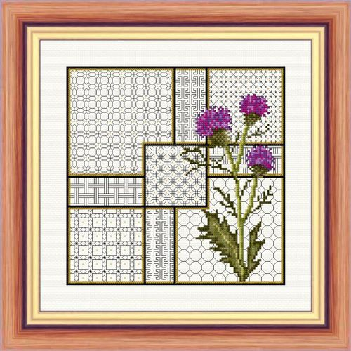 Thistle and Blackwork - Aida Kit