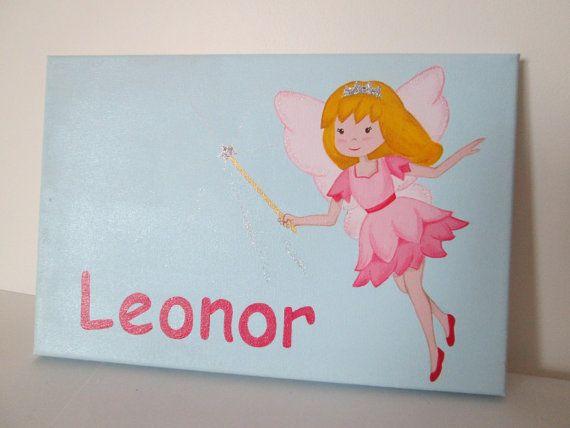 """Kids door sign, Custom Girls Fairy door sign, 12""""x8"""""""