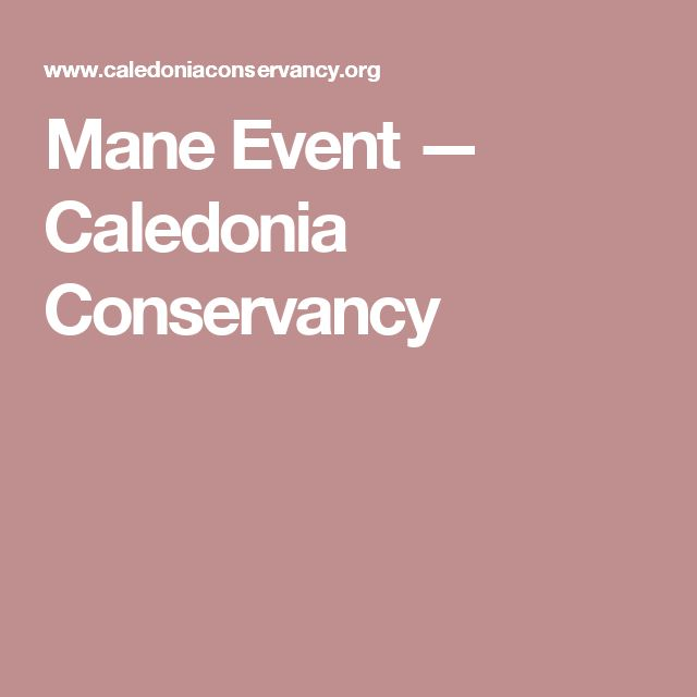 Mane Event — Caledonia Conservancy