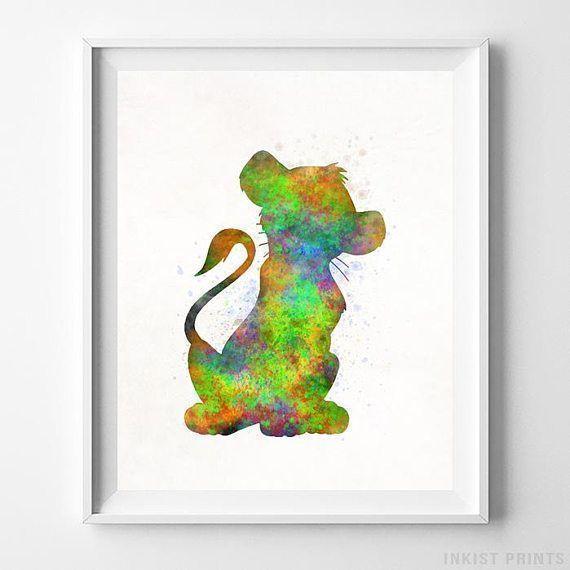 Simba Print Simba Disney Poster Lion King Watercolor Baby