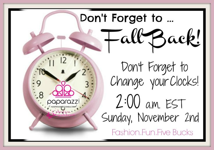 Time Change Facebook: Don't Forget To Change Your Clocks This Sunday November