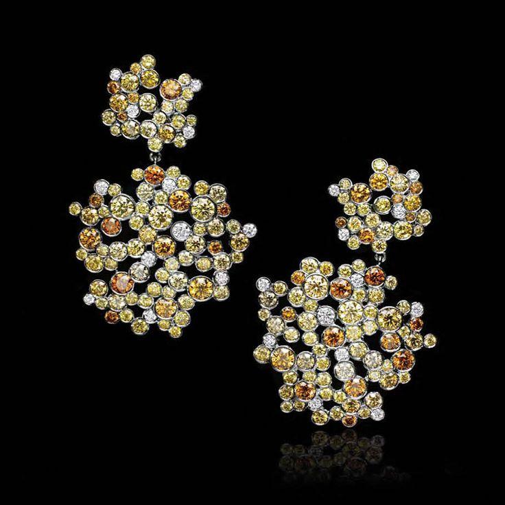Tiffany & Co. Blue Book 2016; Yellow Diamond Earrings