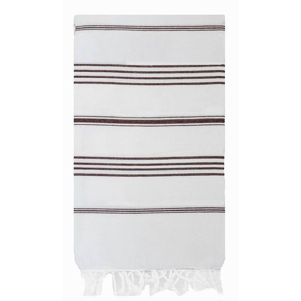 Turkish T Basic Bath Towel In Brown Cigar Stripes On White By ($29) ❤ liked on Polyvore featuring home, bed & bath, bath, bath towels, bath towels & washcloths, white bath towels, stripe bath towels, white wash cloths, lightweight bath towels and brown bath towels