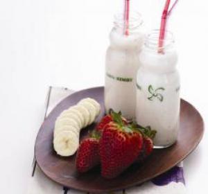 Bimby - iogurte líquido de banana e morango