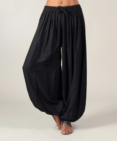 Black Harem Pants by Aller Simplement  24.99   These harem pants boast a comfy, relaxed design made from silk-like fabric that's sure to be the base for an effortless ensemble.