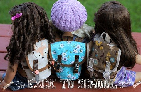 American Girl Doll Pattern - Backpack Sew-along Gather Supplies | Many Small Friends