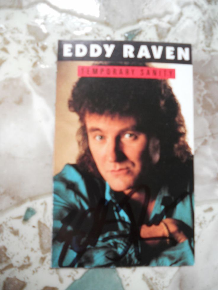 EDDIE RAVEN-AUTOGRAPHED SIGNED TEMPORARY SANITY TAPE COVER
