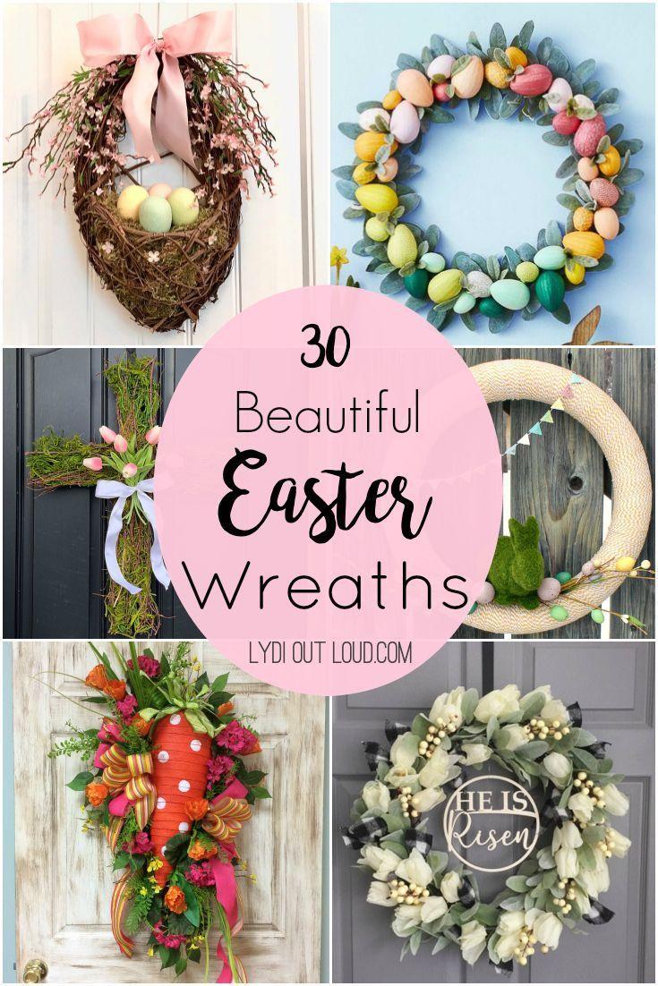 30 Beautiful Easter Wreaths To Diy Or Buy In 2021 Easter Wreaths Easter Wreath Diy Easter Swags