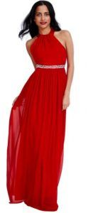 Dresses for wedding or baptism red summer dress kokkino maxi forema