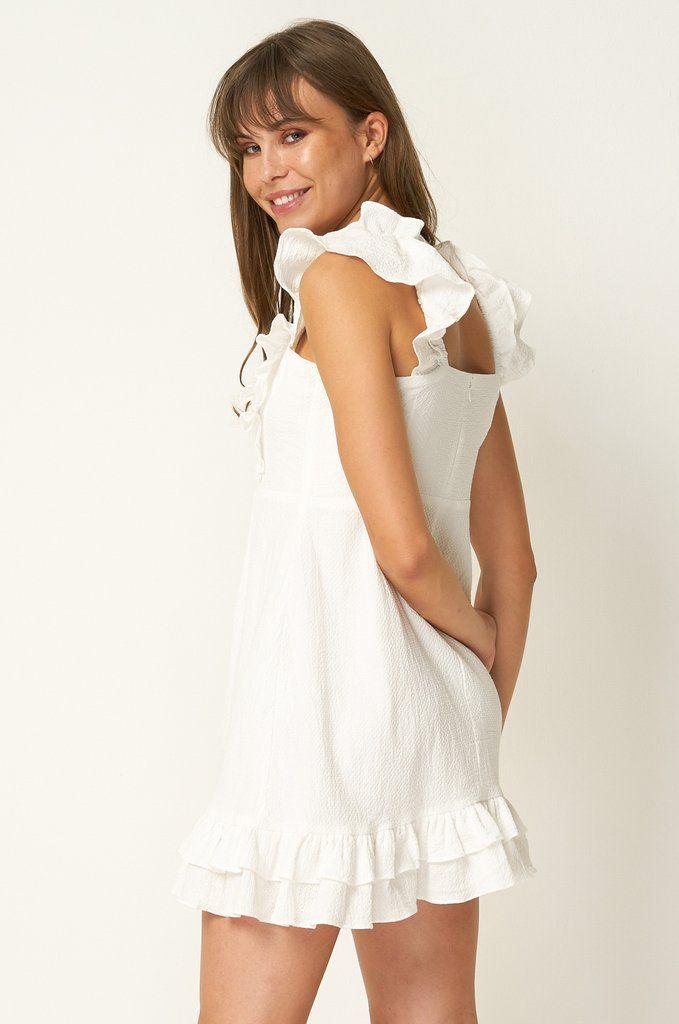 5713dbecdb7 Teresa Ruffle Mini Dress - White in 2019 | My Style | Dresses, White ...