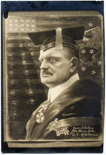 Sibelius was named as a Doctor of Honor in the University of Yale during his visit in America in 1914. He was named to the Finnish Doctor degree in Helsinki around the same time. #Yale #Degree #Sibelius