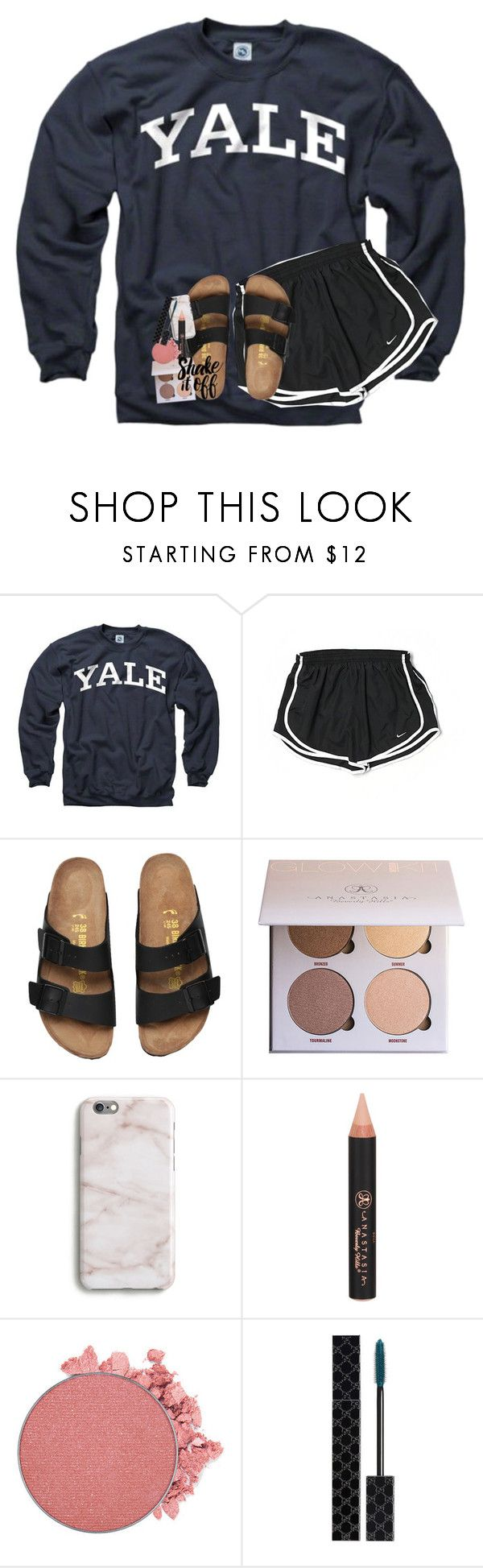 """got my pupils dilated today"" by lindsaygreys ❤ liked on Polyvore featuring NIKE, Harper & Blake and Gucci"