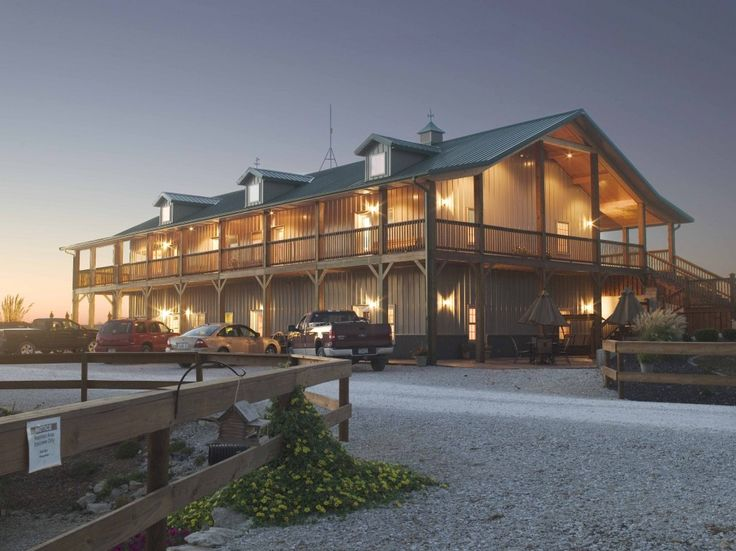 Morton buildings hunting lodge in illinois homes How much to build a shop with living quarters