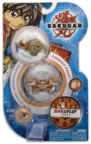 """BakuFlip Bakugan Battle Brawlers Series Starter Pack - """" NOT Randomly Picked"""", Sold As Shown In The Picture! (C51858) by Spin Master. $26.99. Warning! Risk of serious digestive injuries in the event that magnets are swallowed!. Starter pack includes: 3 Bakugan, 3 ability cards, and 3 metal gate cards. For age 5 and up. Bakugan Battle Brawlers BakuFlip Series Starter Pack. """"NOT"""" randomly picked, you are getting what is shown in the picture.. New Bakugan, new cards, new Baku..."""