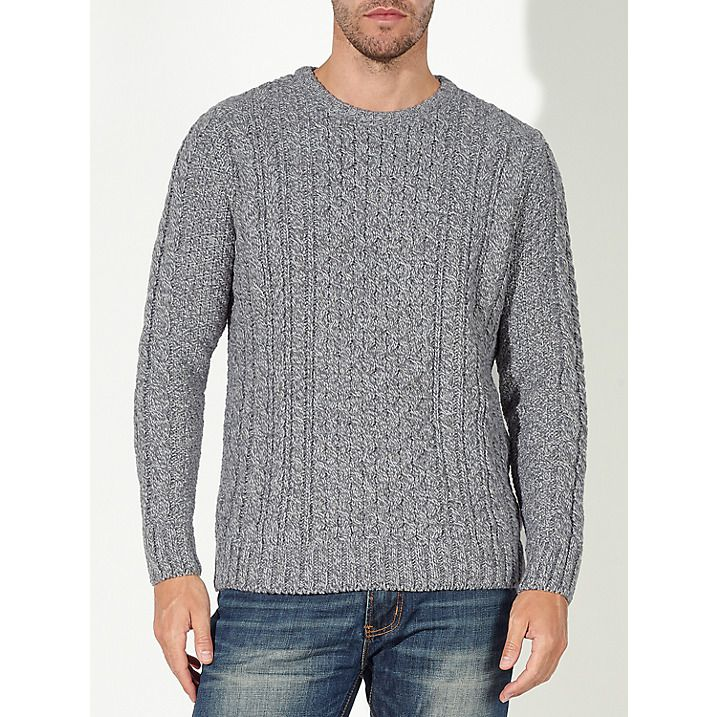 Buy John Lewis Made in England Cable Knit Wool Jumper, Natural, S Online at johnlewis.com