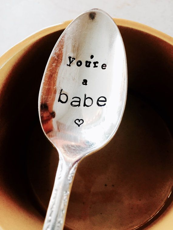 You're A Babe Adult Gifts Funny Gifts Coffee Spoon