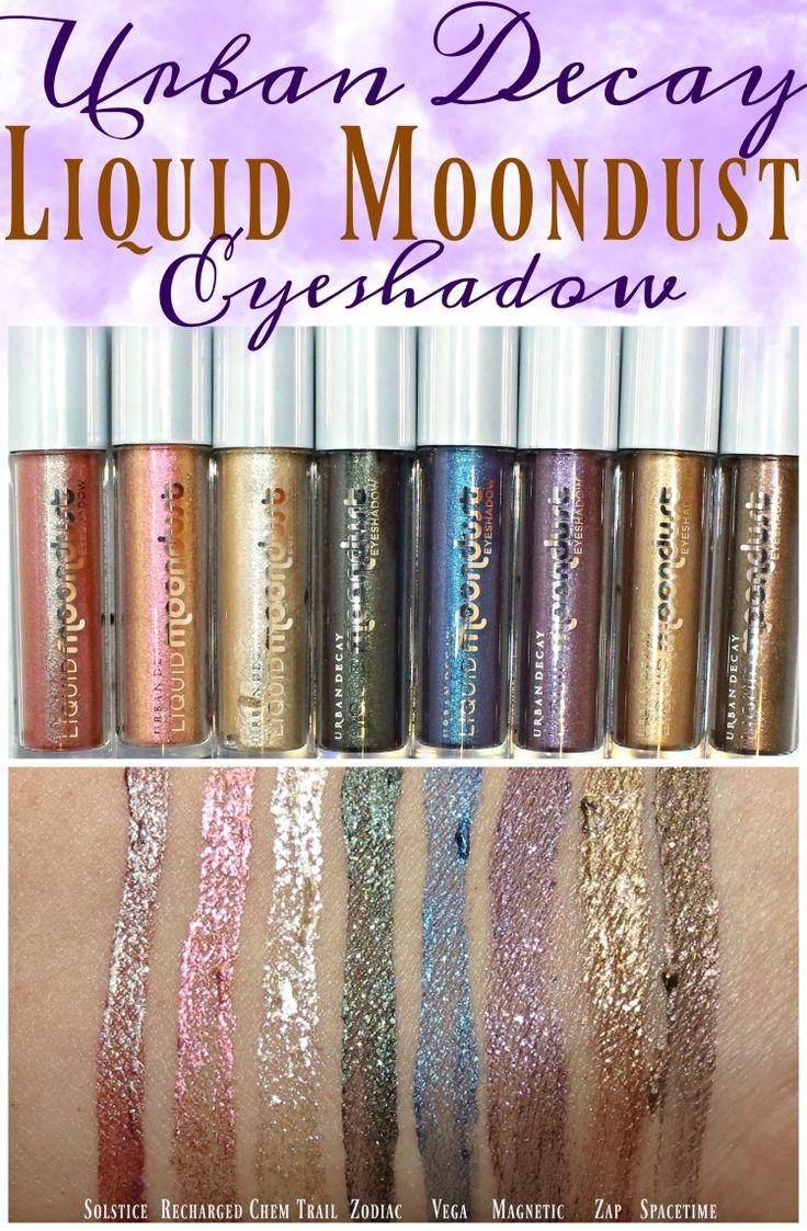 Urban Decay Liquid Moondust Eyeshadow Swatches + Review