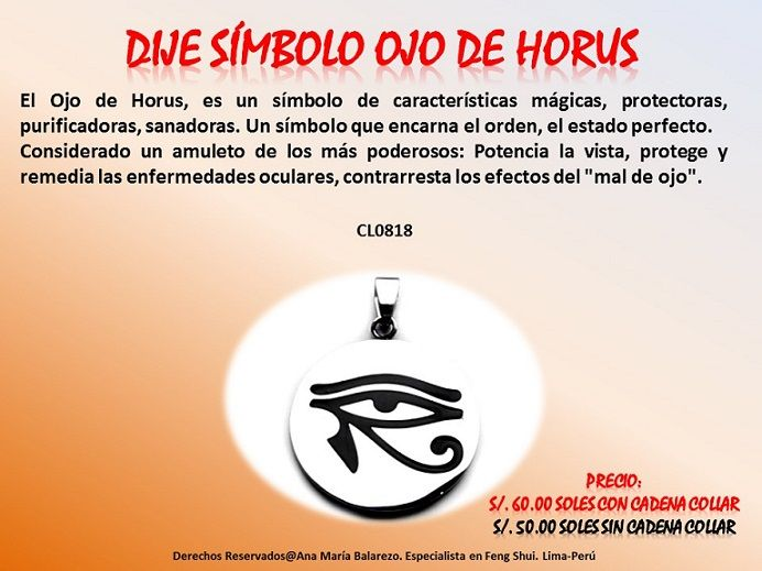 Significado de que es un horus imagui for Como eliminar el desorden con el feng shui