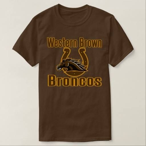(Western Brown Broncos Ohio T-shirt) #Broncos #Brown #Ohio #Western is available on Funny T-shirts Clothing Store   http://ift.tt/2foIFxd
