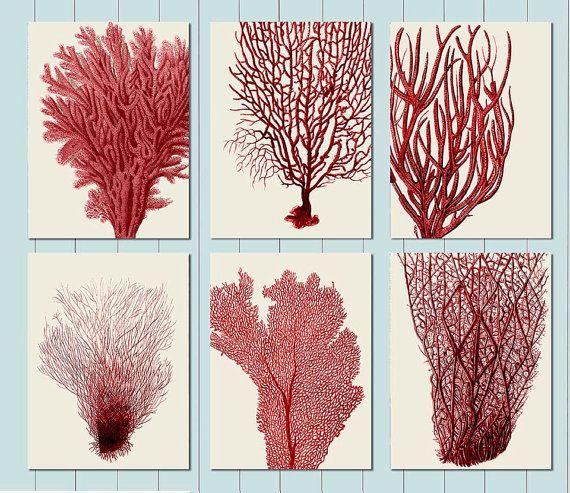 Sea Coral Print Nautical Print