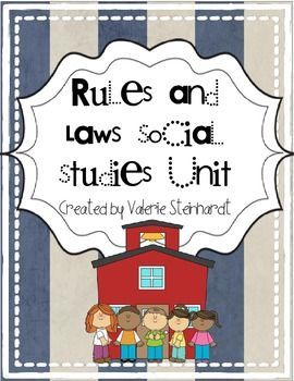This unit features 5 activities about the rules and laws in our community. It could be used anywhere from Kindergarten up to 2nd or even 3rd grade. Included in this set:-Posters with definitions -Rules and laws bubble map- Students give several examples of each-Writing piece- What would your community be like without laws?-Rules and laws tree map- Cut and sort pictures of laws and rules.-Rules at home, rules at school, and laws flipbook