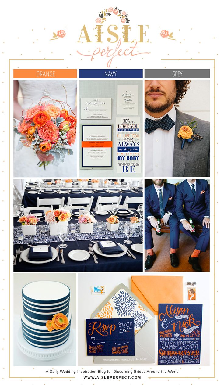 ★ Orange, Navy & Grey
