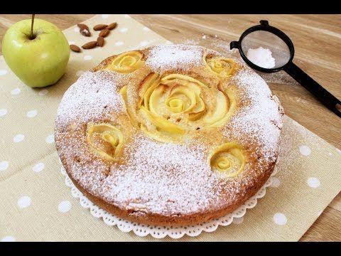 TORTA ROSE DI MELE   ricetta veloce   apple pie roses - YouTube