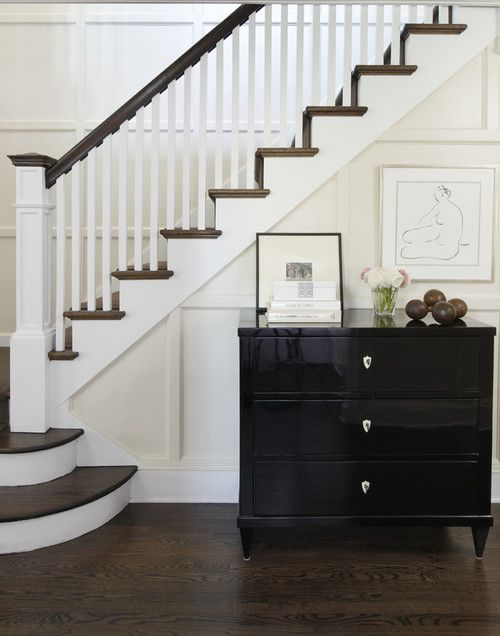 In addition to being the best slide ever, a banister has both functional and decorative purposes. Functionally it serves as a handrail, with supporting posts on the staircase. Decoratively, it can add dramatic flair that complements your home's aesthetic.