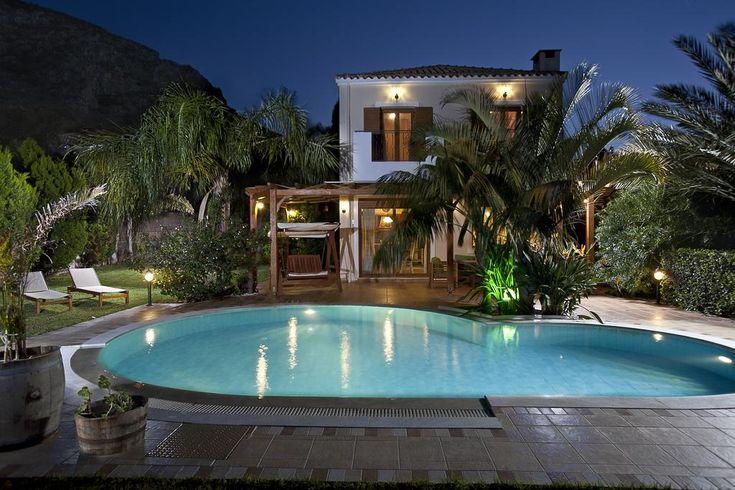 Pandora Villas    Surrounded by a palm-tree garden, Pandora offers elegant villas with private pool 1.5 km from Sarandaris Beach.