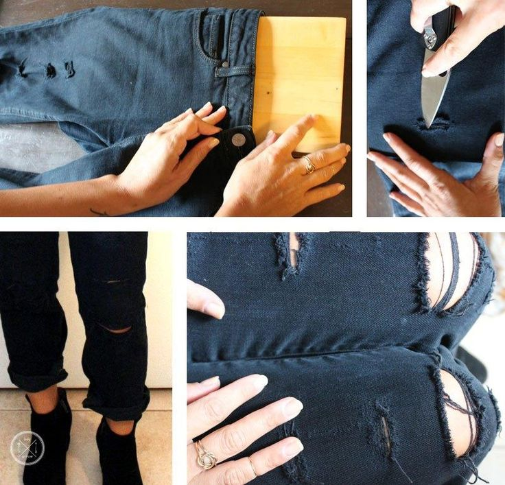 1000  images about DIY Ripped Jeans on Pinterest | Ripped knee ...
