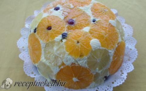 Gyümölcsös fordított torta recept fotóval