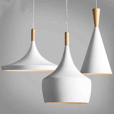 Diseño de nueva Lámpara Colgante Luz del Golpe de nuevo Blanco de madera Araña instrumento, 3 UNIDS/PACK