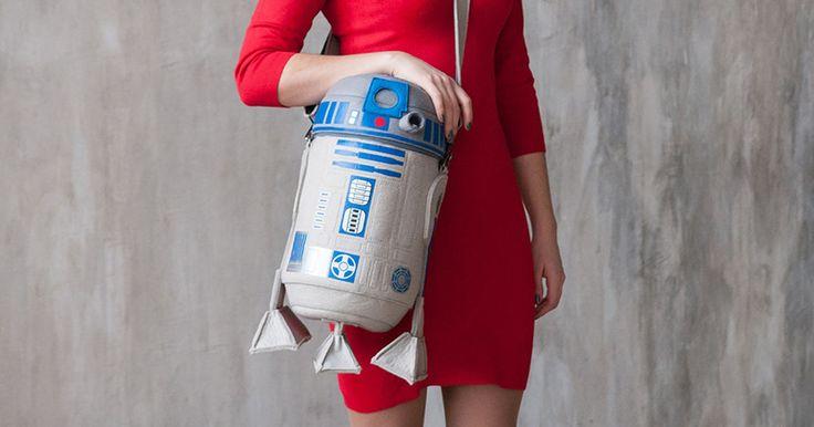 Купить Сумка Робот R2D2 - серый, рисунок, Фильм, робот, звездные войны, р2д2…