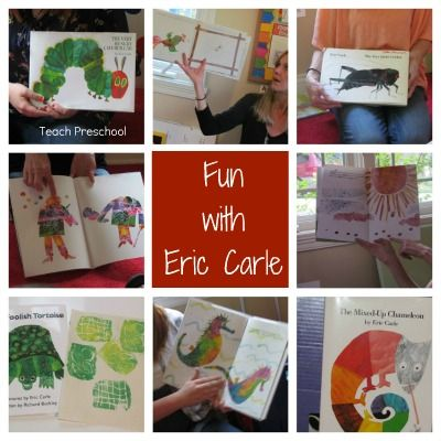 Eric Carle activities: The Very Hungry Caterpillar and lots of other ideas for Carle books.