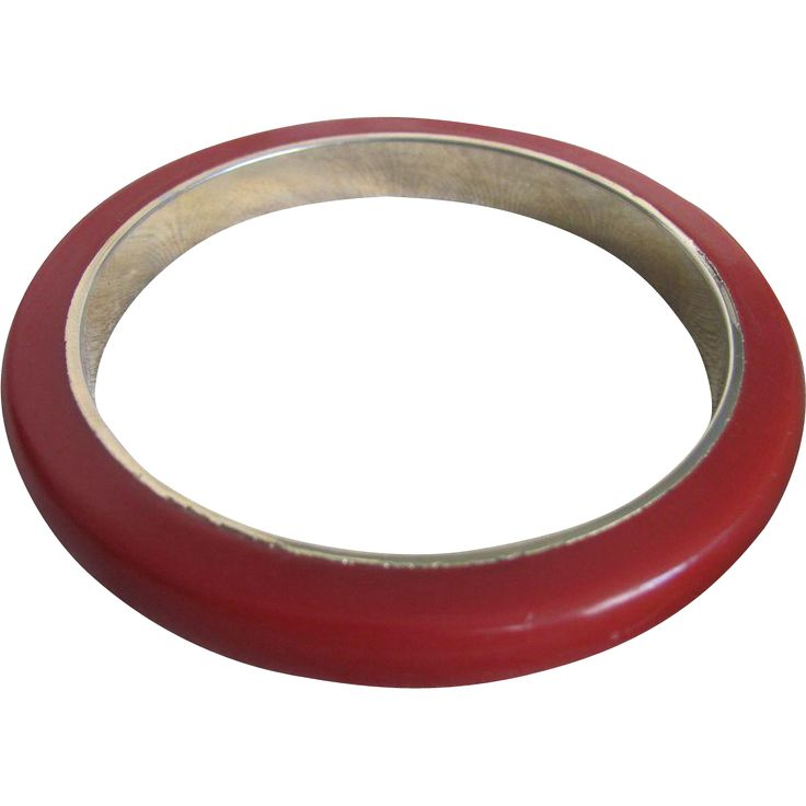 Vintage Red Bakelite with Brass Insert Bangle --- The Ruby Red Tag Sale is on! 50% off for 96 hours from 8 am Friday, Nov 25th to 8 am Tuesday, Nov 29th. www.rubylane.com #RubyRedTagSale @Ruby Lane